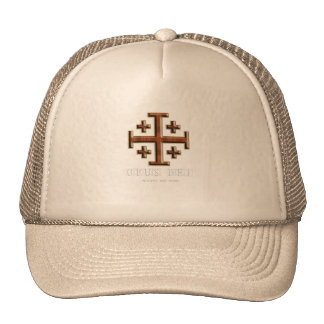 Ver 2 – Jerusalem Cross – Opus Dei - Black Back Trucker Hat