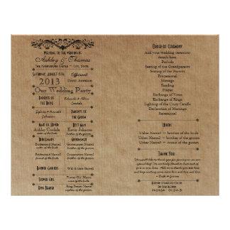 "Ver 3 Custom Wedding Program Template for Fan 8.5"" X 11"" Flyer"