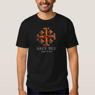 Ver 3 – Jerusalem Cross – Opus Dei - Black Back Tshirts