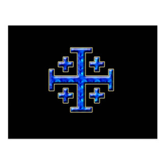 Ver 4 – Jerusalem Cross - Black Back Postcard