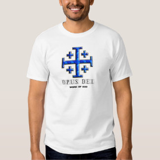 Ver 4 – Jerusalem Cross – Opus Dei - Clear Back T-shirt