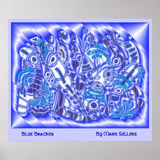 Ver azul 2 del helecho póster