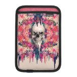 Ver color, cráneo floral de fusión funda de iPad mini