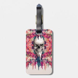 Ver el cráneo de fusión del azúcar del color etiqueta de maleta