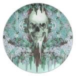 Ver el cráneo de fusión del azúcar del color platos para fiestas