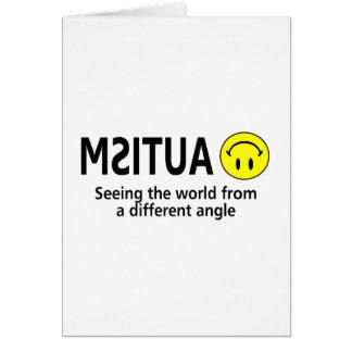 Ver el mundo de un diverso ángulo tarjeta de felicitación