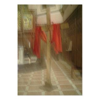 Ver la cruz con el velo del Veronica Tarjetas De Visita Grandes