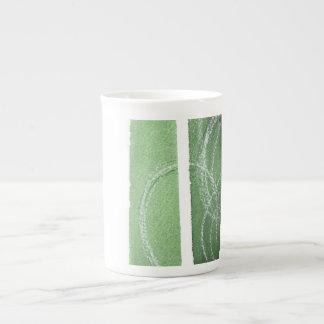 Ver la taza verde de la porcelana de hueso taza de porcelana