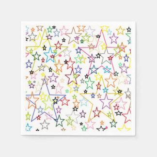 Ver las servilletas de papel de las estrellas