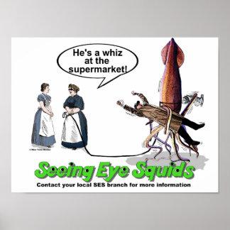 Ver los calamares del ojo póster