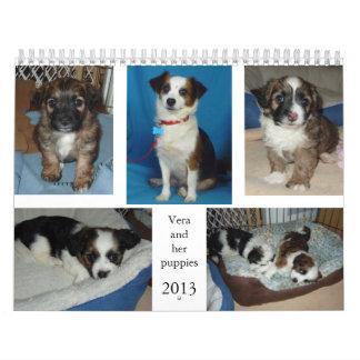 Vera and her puppies calendar