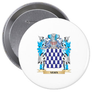 Vera Coat of Arms - Family Crest 4 Inch Round Button