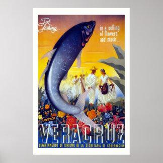 """Vera Cruz"" Vintage Travel Poster"