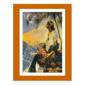 """Vera Cruz"" Vintage Travel Poster Postcard"