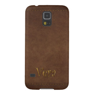 VERA Custom Leather-look Cell Phone Case Galaxy S5 Covers