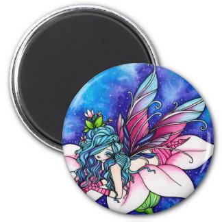 Vera Fairy Fantasy Flower 2 Inch Round Magnet