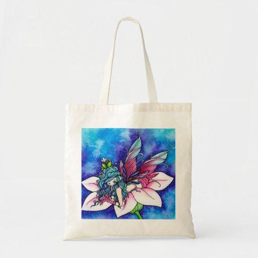 Vera Fairy Fantasy Flower Budget Tote Bag
