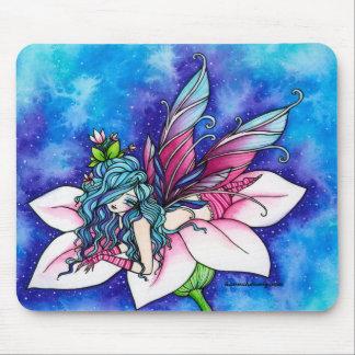 Vera Fairy Fantasy Flower Mouse Pad