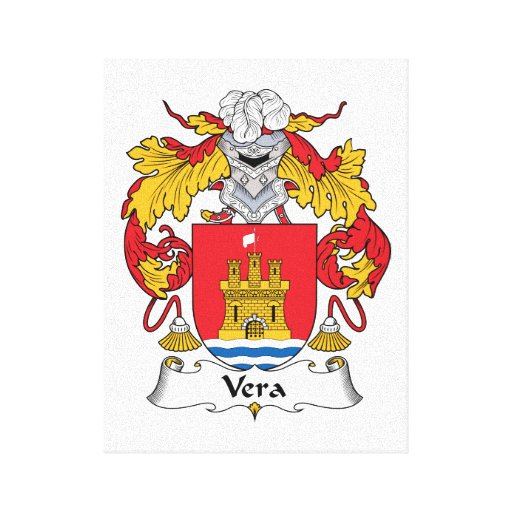 Vera Family Crest Canvas Print