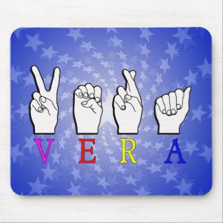 VERA  FINGERSPELLED ASL SIGN NAME FEMALE MOUSE PAD