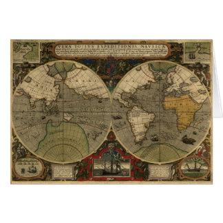 Vera Totius Expeditionis Map Greeting Cards