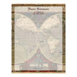 Vera Totius Expeditionis Map Personalized Letterhead
