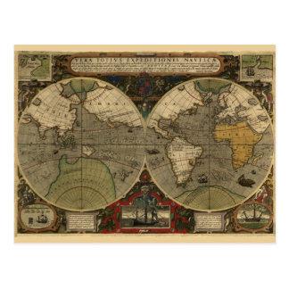 Vera Totius Expeditionis Map Postcard
