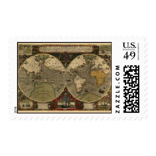 Vera Totius Expeditionis Map Stamp