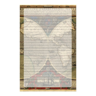 Vera Totius Expeditionis Map Stationery