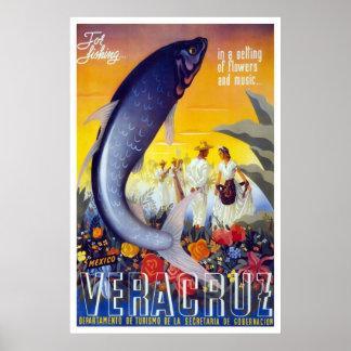 Veracruz para pescar póster