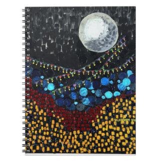Veranda Moon Spiral Notebooks