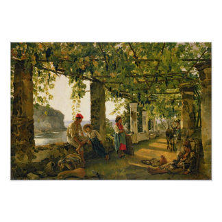 Verandah with twisted vines, 1828 poster