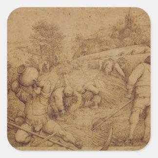 Verano, 1568 calcomanías cuadradas personalizadas