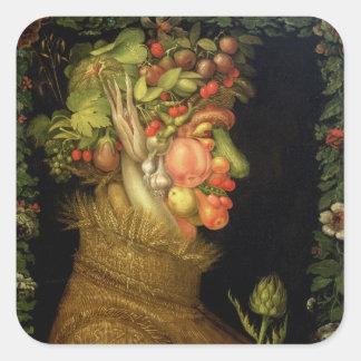 Verano, 1573 calcomanía cuadradas personalizadas
