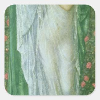 Verano, 1869-70 pegatina cuadrada