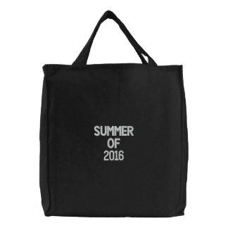 Verano blanco negro del bolso del bordado de 2016 bolsa de mano bordada