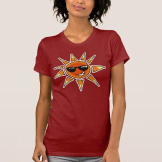 Verano caliente del sol camiseta
