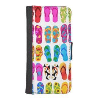 Verano colorido del tema de la playa de la funda billetera para teléfono