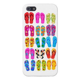 Verano colorido del tema de la playa de la iPhone 5 fundas