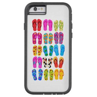 Verano colorido del tema de la playa de la funda para  iPhone 6 tough xtreme