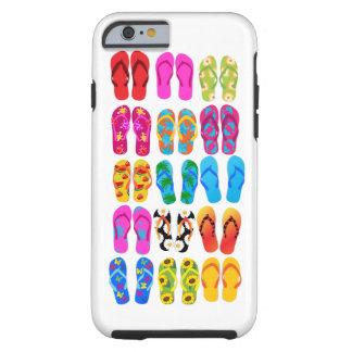Verano colorido del tema de la playa de la funda resistente iPhone 6