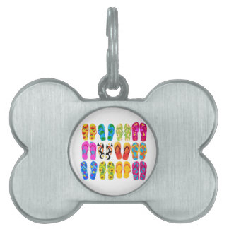 Verano colorido del tema de la playa de la placa de mascota