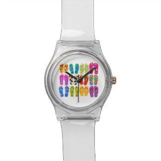 Verano colorido del tema de la playa de la reloj de mano