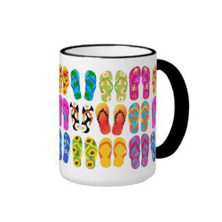 Verano colorido del tema de la playa de la taza de dos colores