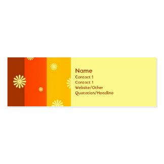 Verano de 74 tarjetas de visita mini