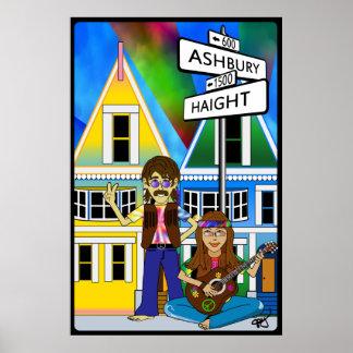 Verano de Haight Ashbury del poster del amor