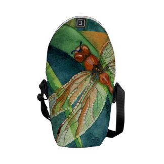 Verano de la libélula bolsas de mensajería