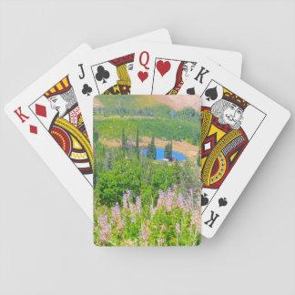 Verano de la montaña del polvo baraja de póquer