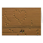 Verano de la tarjeta del amor. Tarjeta por el cART