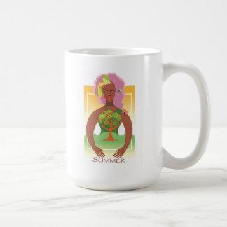 Verano de la tierra de madre taza de café
